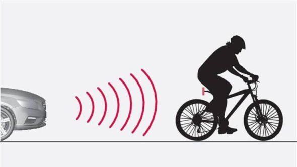 Car sensing bicycle